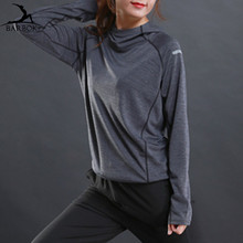 BARBOK Long Sleeve Running Jackets for Women Men Hoodie No Zipper Sports Jersey Runner Jogging Ladies Outer Fitness Clothing