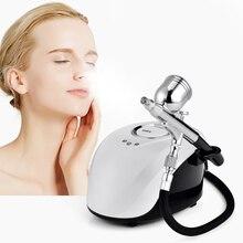 جهاز البخار للوجه سبا آلة رش نانو ارتفاع ضغط المياه الأكسجين ملء متر البخاخات الوجه الجمال جهاز العناية أدوات