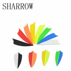 50pcs 8 Colors 1.75inch Arrows Vans Plastic Feather Fletches Plumage DIY Decoration For Outdoor Shooting Practice Accessories