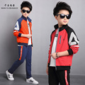 QYSZ Good Quality 5-16Years Old Children Jacket Sets 2017 New Sport Set Kids Nice Zipper Fashion Students Uniforms Boys