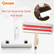 VOVOPET Pet Dog Cat Remover hairs Brush Storeable hair Two-way brush head plastic kitten puppy  Grooming Comb Hair