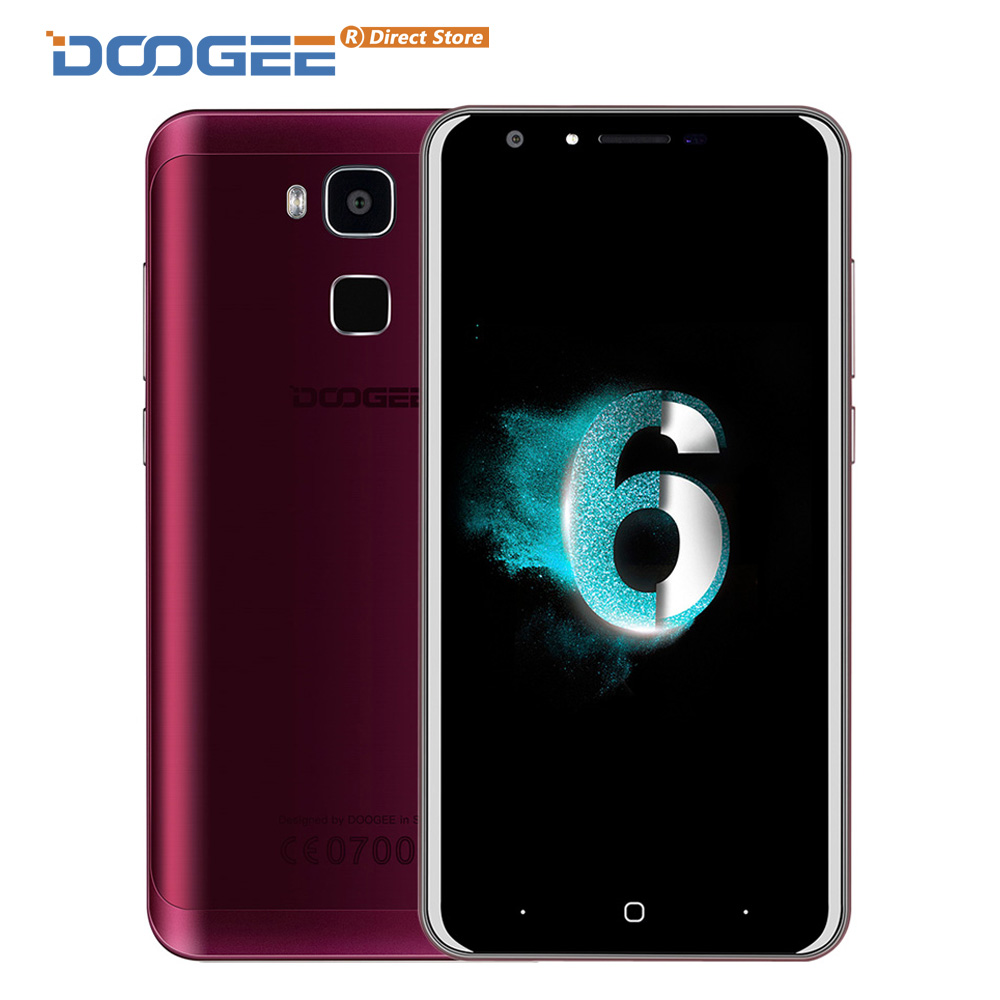 """bilder für DOOGEE Y6 4G Fingerprint ID MTK6750 Octa-core Smartphone 5,5 """"1280*720 Android 6.0 Handy 2 GB + 16 GB 13MP 3200 mAh Handy"""