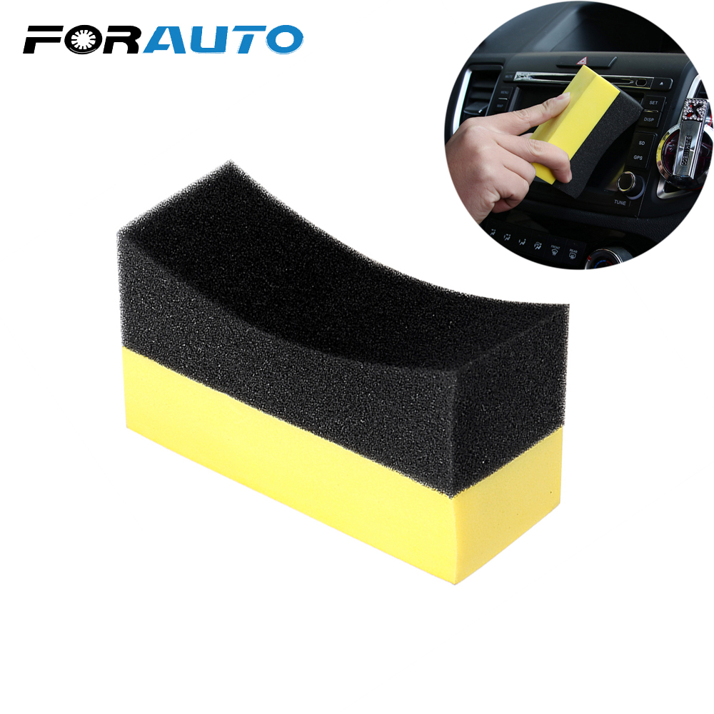 Household Car U-Shape Tire Waxing Polishing EVA Sponge Block Cleaning Brush Wash