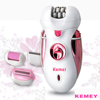 Kemei Rechargeable Women Epilator Hair Removal Foot Care Remover Epilator Shaver Hair Trimmer 4 In 1
