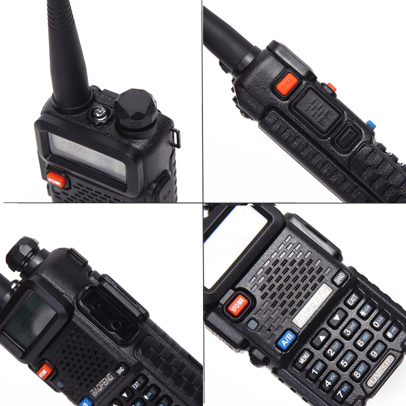 Image 4 - 2PCS Baofeng UV 5R Walkie Talkie Portable Radio Station 5W 128CH VHF UHF Dual Band UV5R Two Way Radio for Hunting Ham CB Radio-in Walkie Talkie from Cellphones & Telecommunications