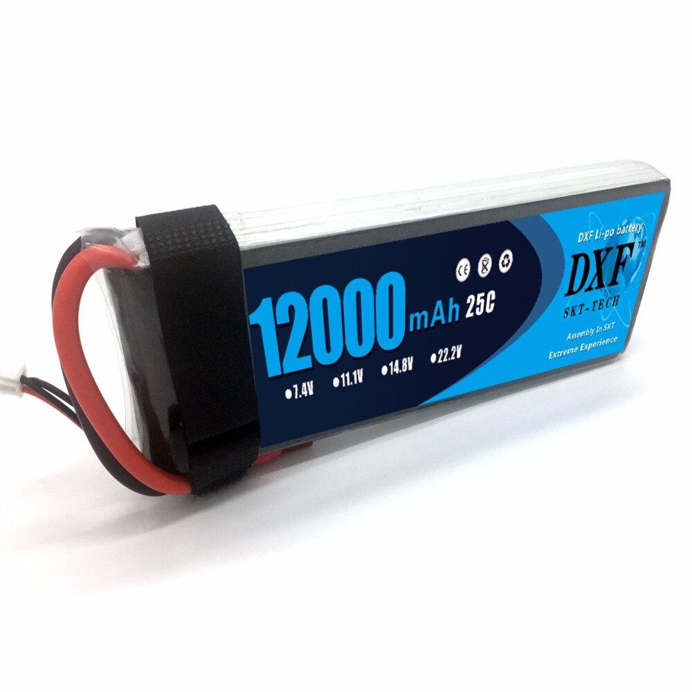 DXF мощность Lipo батарея 2 S 7,4 v 12000 mah 25c вал необитаемая машина HM литиевая батарея для RC беспилотный самолет - 2