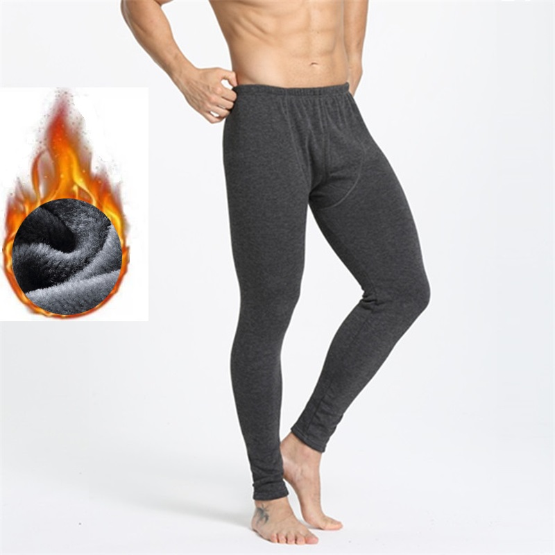 Thermo Underwear Thick Fleece Thermal Winter Clothes Men Keep Warm Mens Leggings