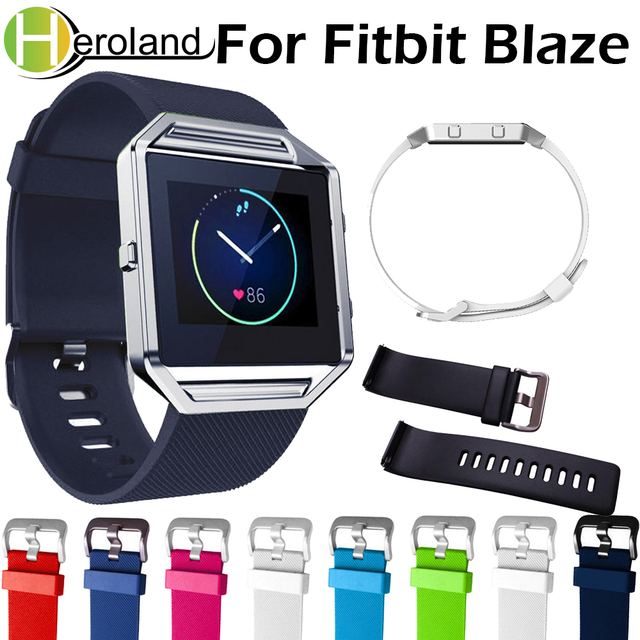 Diving sport watch band for fitbit blaze strap silicone wristband bracelet repla