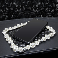 New Pearl design Anti Slip Mat Dash Board decoration crown ornament women fashionable car accessories car accessory stores