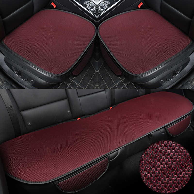 3 ピース/セット車のシートカバークッション通気性に換気快適なフロントとバック後部座席プロテクターパッドマットアンチスキッドポケット