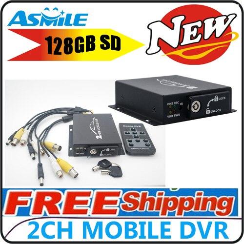 цена на Mini Mobile Portable Car/Bus Black Box DVR 2CH Mini Car Vehicle DVR Video Recorder CCTV