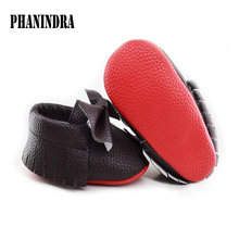 Baby Moccasins PU Suede Leather Newborn Brand Baby