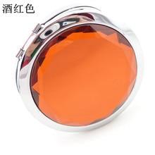 Складное косметическое зеркало 50 шт./лот 7 см, компактное зеркало с кристаллами, металлическое карманное зеркало для свадебного подарка, косметическое зеркало, Бесплатная доставка DHL