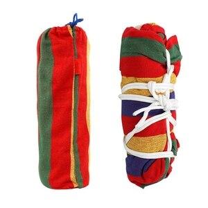 Image 4 - Amaca doppia 450 £ Portatile di Campeggio di Viaggio Appeso Unamaca Altalena Pigro Sedia Amache di Tela (Rosso)