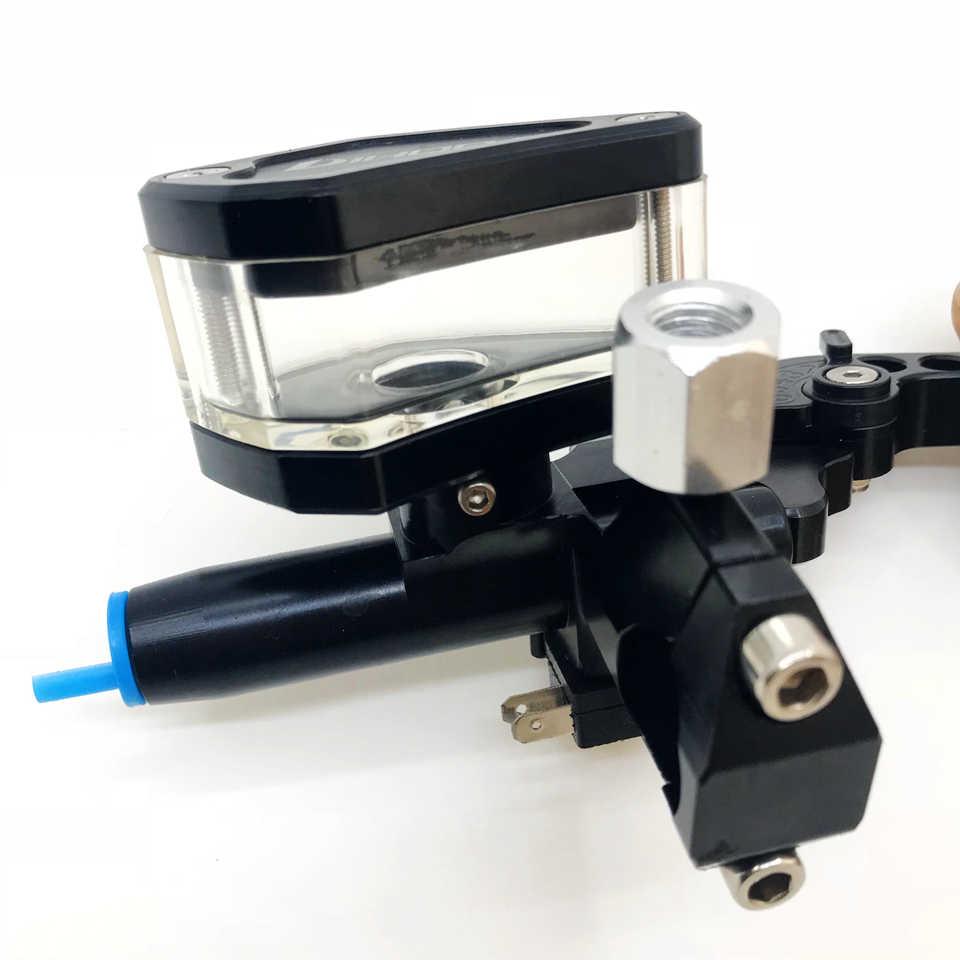 CNC 12.7mm poignée d'embrayage pompe de frein hydraulique levier de maître-cylindre moto universelle 22mm diamètre de poignée