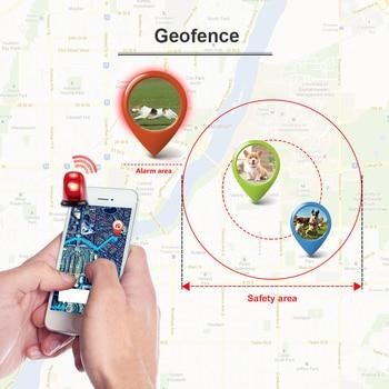 Dog GPS Tracker TK909 Waterproof IP65 Geofence Google Track GPS For Cat Collar Voice Monitor Mini GPS Locator For Dog FREE APP 4