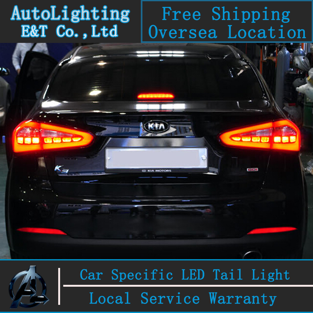 Auto Lighting Style LED Tail Lamp for KIA K3 led tail lights 2013-2014 Cerato trunk lamp cover drl+signal+brake+reverse