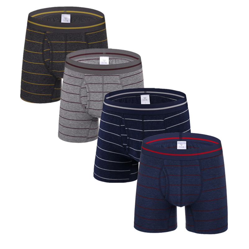 Helpful 3pcs/lot Mens Trunks Boxer Shorts High Quality Cotton Male Underwear Striped Elastic Waist Cueca Masculina Open Fly Pouch Back To Search Resultsunderwear & Sleepwears