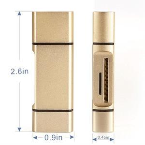 Image 5 - 3 w 1 MicroSD SD TF USB2.0 MicroUSB OTG typu C uniwersalny czytnik kart pamięci projekt dla Ipad z systemem Android telefon PC Macbook