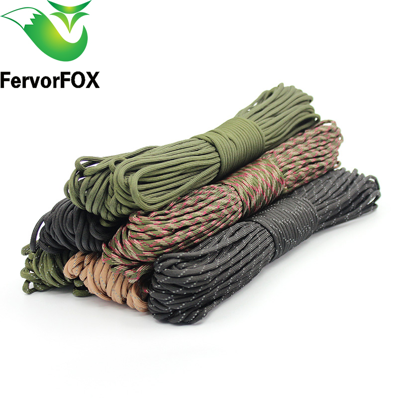 50m (164FT) Paracord 550 Paracord Parachute Cord Lanyard Rope Militair Spec Type III 7 Strand