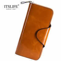 Women Wallets Famous Brand Leather Purse Wallet Designer High Quality Long Zipper Money Clip Large Capacity