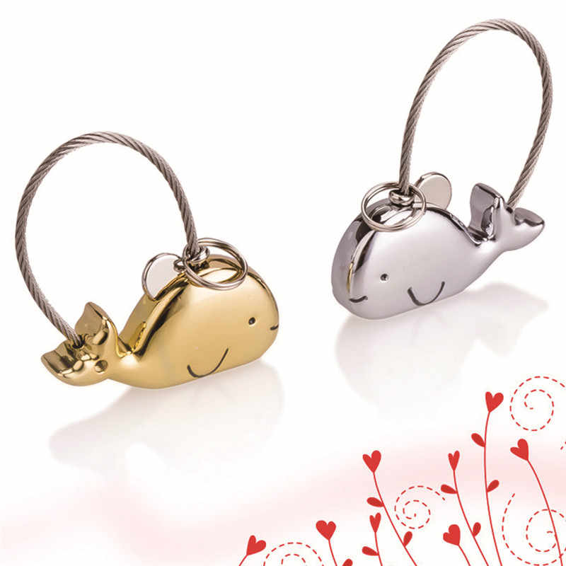 Sweet Kissing Whales Couple Keychain Women Men's Christmas Valentine's Day Gift Keychain for Lover #290375