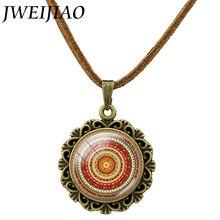 JWEIJIAO Collares Collier The Splendor Of Kaleidoscope Mandala Necklace Hot Sale Popular Retro Bohemia Style Pendant