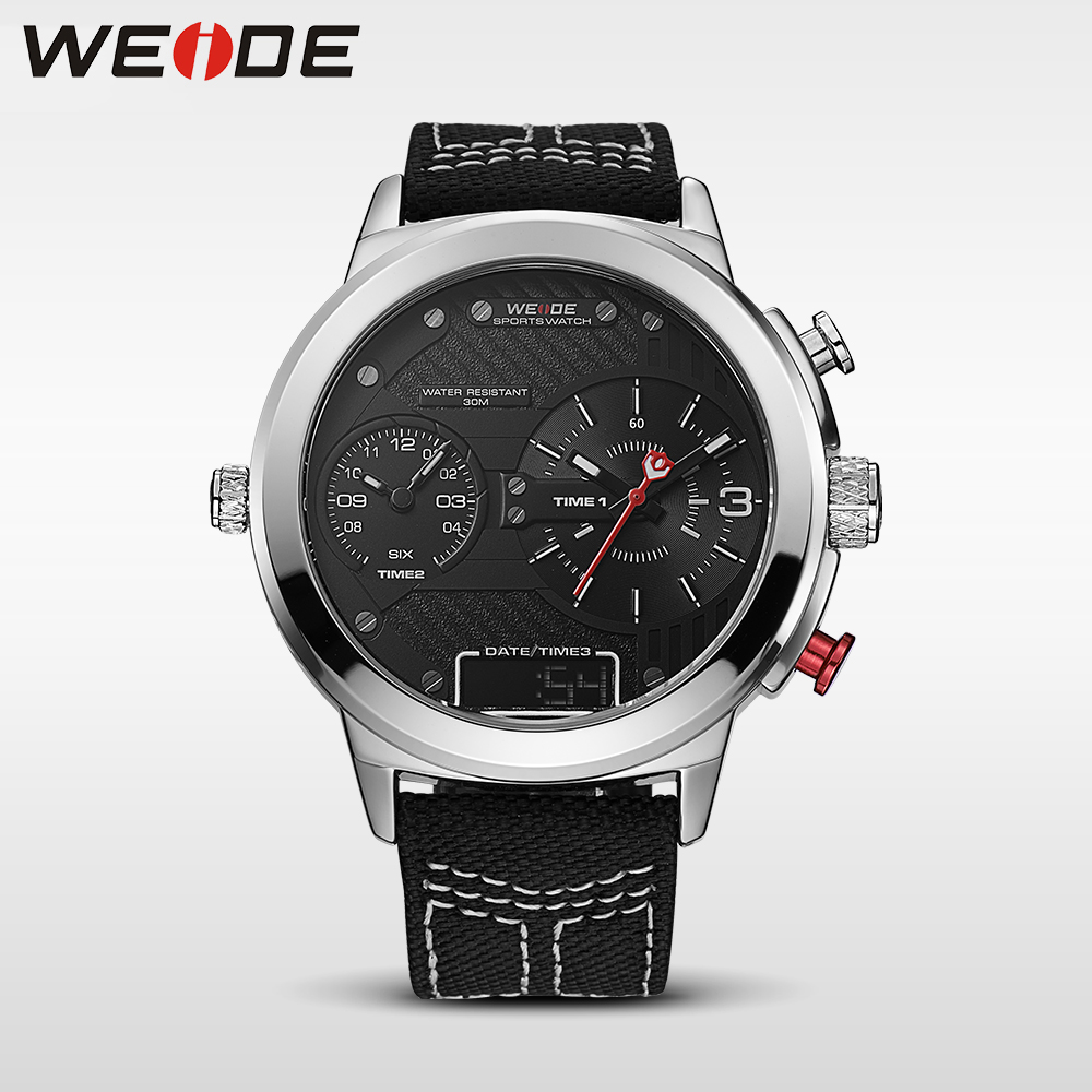 WEIDE genuine top brand luxury men watch LED sport digital black quartz relogios masculino watches Large discs Electronic clock weide popular brand new fashion digital led watch men waterproof sport watches man white dial stainless steel relogio masculino
