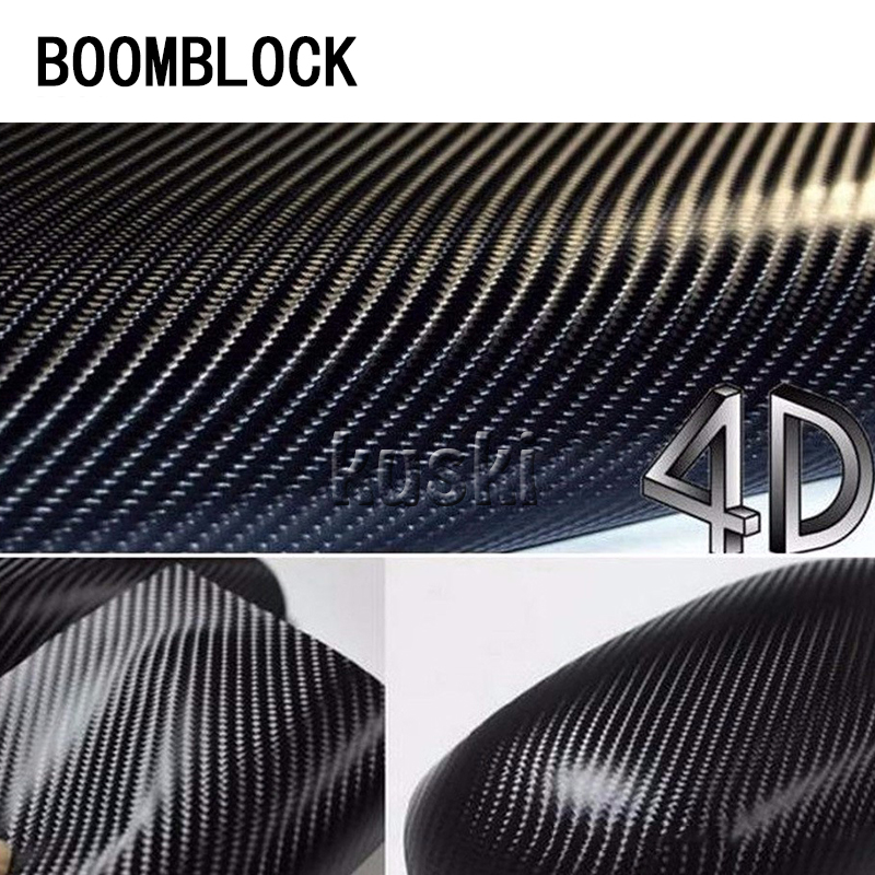 BOOMBLOCK 12*50'' Car Carbon Fiber Stickers For Mazda 3 6 Toyota Avensis C-HR Peugeot 307 407 308 Alfa Romeo 159 Accessories peugeot 307 1 6 hdi