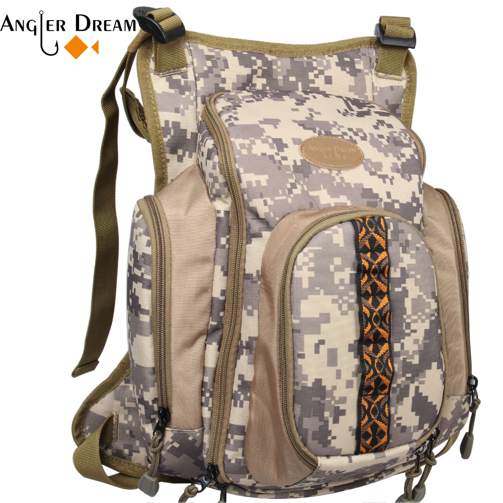 Fly Fishing Chest Bag Camo Adjustable Sports Outdoor Bag - Fishing