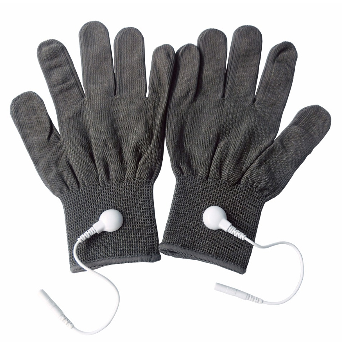 5 Pairs Pack Conductive Massage Gloves physiotherapy electrotherapy electrode Gloves Deep Gray