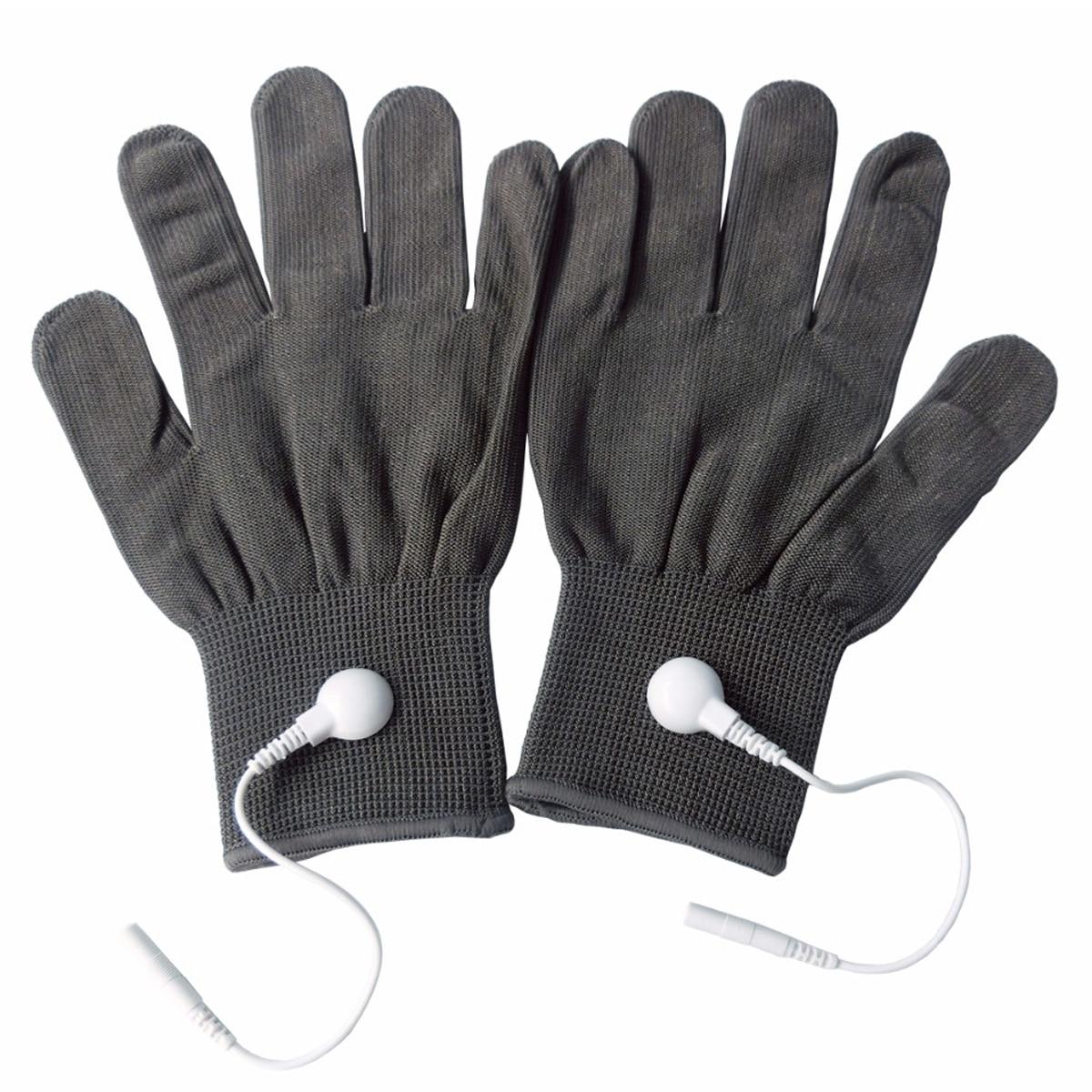 5 guantes de masaje conductivos par/pack guantes de electrodo de fisioterapia gris profundo-in Masaje y relajación from Belleza y salud on AliExpress - 11.11_Double 11_Singles' Day 1