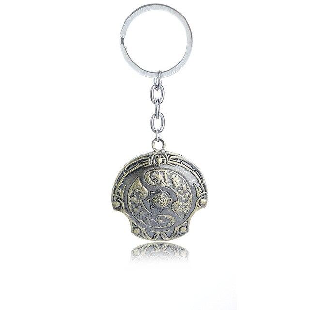 Bijoux cadeau nouvel arrivage offre spéciale jeu Dota bouclier porte-clés porte-clés immortel champion bouclier Dota 2 porte-clés porte-clés