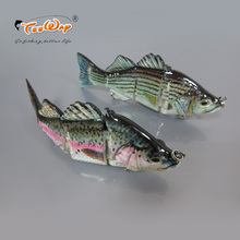 15cm 68g Lifelike Fishing Lure Wobblers 4 Segments Hard Bait Lure Carp Fishing Tackle with Treble Hooks Swimbait Pesca