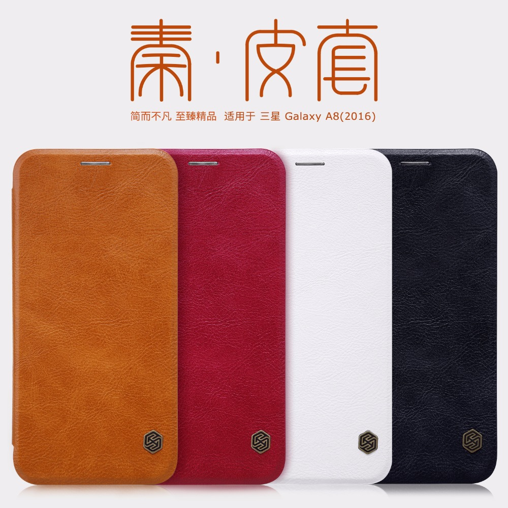 Samsung galaxy a8 2016 pictures official photos - For Samsung Galaxy A8 2016 Case Pu Leather Cover Nillkin Qin Leather Case For Samsung Galaxy