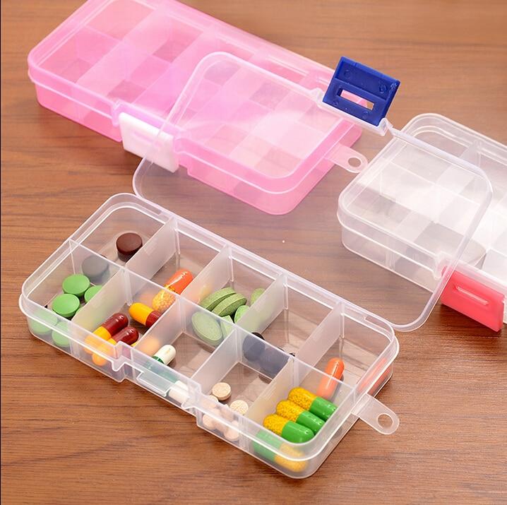 4 шт./компл. складной 10 дней витамин медицина таблетки ящик для хранения таблеток контейнер Tablet Медицина Box Pill организатор ювелирные изделия ...