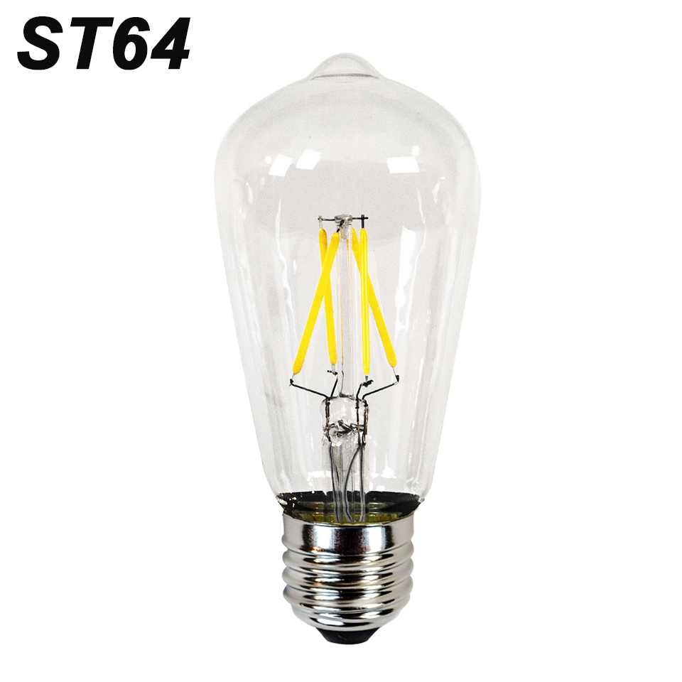 e27 st64 antique led edison bulb 220v 240v retro led. Black Bedroom Furniture Sets. Home Design Ideas