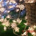 10 м 100LED Украшения Гирлянда Лотоса мяч ПРИВЕЛО Струнные светильники Рождество Новый Праздник Стороной году Свадьба Лампы освещения