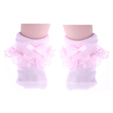 Cute Baby Cotton Ankle Bow Socks