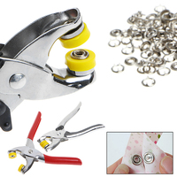 1 Set Hot 100Pcs Ring Snap + Metal Prong Ring Snap Fasteners Press Studs Poppers Plier
