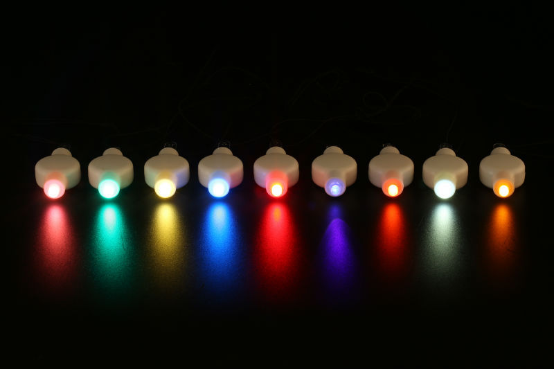 10pcs 12colors Multicolor Chinese Round Paper Lantern Led Lights For Wedding Brithday Party Decoration Holiday