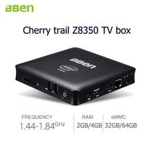 Bben de bureau MINI PC Quad Core TV Box intel Z8350 Windows 10 RAM 2 GB/4 GB 32 GB/64 GB Intel Calculer TV Bâton avec LAN Casque port