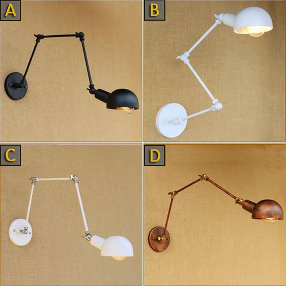 tamaño: 2 Sets bulbo no incluido lámpara de pared con la cáscara de metal cabeza de metal Steampunk de pared de metal de la lámpara de la lámpara E27 lámpara Sprays