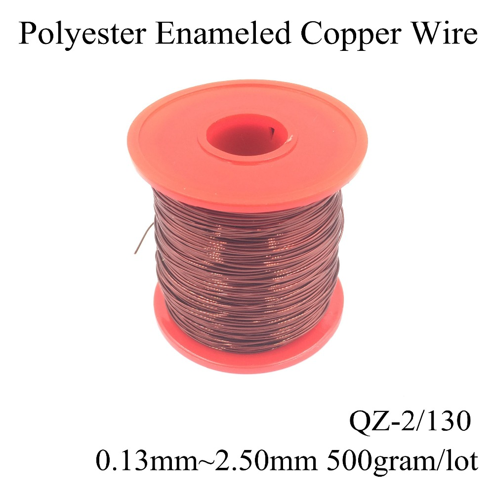 500gram Roll 013mm250mm Qz 2 130 High Tempereture Polyester Copper Conductor Electric Wire China Enameled Magnet Magnetic Motor Coil Winding In Wires Cables From