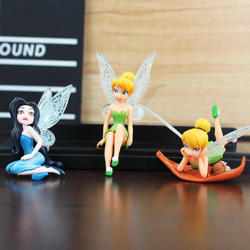 6x Fancy Tinkerbell Fairies Princess Action Figures Kids PVC Doll Toy Gift