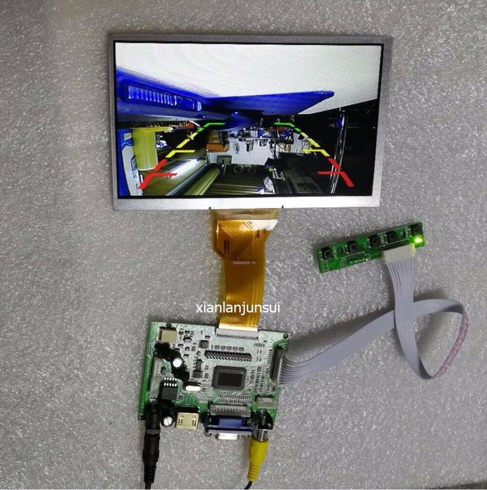 AT070TN94 HDMI + VGA + 2AV +Video reversing 6.5 .7 . 8 .9 inches 50pin 800 * 480 LCD display driver board controller panel vga 2av audio reversing lcd driver board 10 1inch n101bge 1366 768 lcd panel
