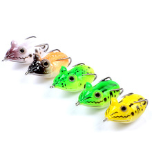 fishing soft lure 5.4cm/11.6g Thunder frog Artificial bait plastic lures Black fish egg new The bionic