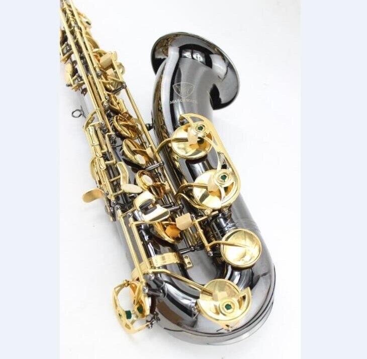 Margewate tenor B saxofón BB Sax níquel negro rendimiento profesional con guantes de caso y una serie de