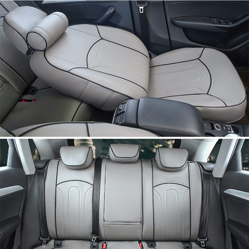 CARTAILOR PU Leather Seat Covers For Peugeot 607 2004 Car Accessories Front Rear Cover Decorative Cushion Supports In Automobiles