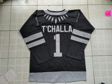 VIVA VILLA King T Challa  1 The Black Panther Hockey Jersey Stitched Black 5500f5a6e